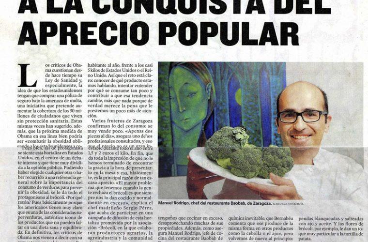 Homenaje al brócoli en Heraldo de Aragón
