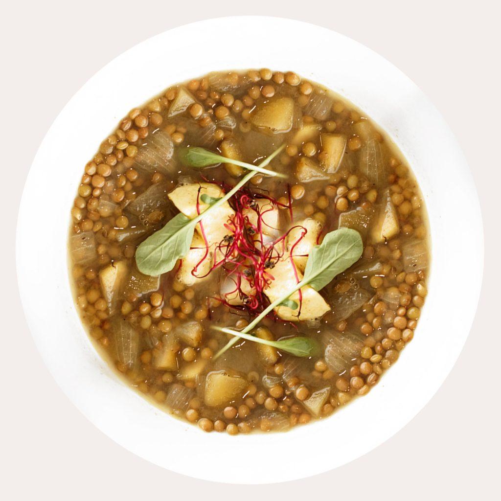 Lentejas al curry de Restaurante Baobab